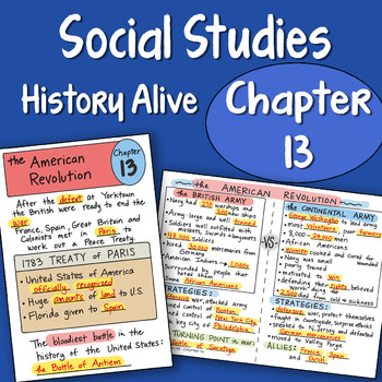 Doodle Fold History Alive Chapter 13 The American Revolution