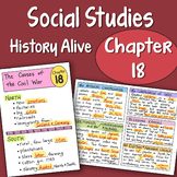 Doodle Notes History Alive Chapter 18 - The Causes of the Civil War