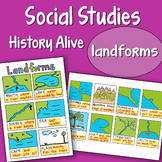 Social Studies Doodle History Alive - Landforms - EASY to Use Notes -