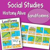 Social Studies Doodle History Alive - Landforms - EASY to