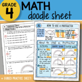 Math Doodle - How to Use a Protractor - So EASY to Use! PPT Included!