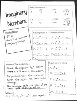 Doodle Notes - Imaginary Numbers