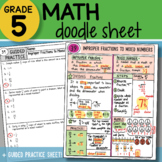 Math Doodle - Improper Fractions to Mixed Numbers - PPT Included!
