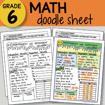 Doodle Notes - Independent and Dependent Variables - So EASY to Use!