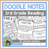Doodle Notes     Interactive Notebook     3rd Grade     Reading Literature