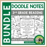 Doodle Notes     Interactive Notebooks     3rd Grade     All Reading Standards
