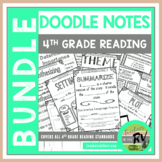 Doodle Notes  |  Interactive Notebooks  |  4th Grade  |  All Reading Standards