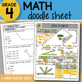 Math Doodle - Intro to Angles - So EASY to Use! PPT Included