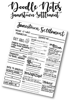 Doodle Notes: Jamestown Settlement