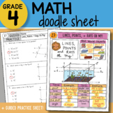 Math Doodle - Lines Points and Rays, Oh My!  - So EASY to