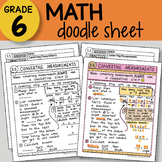 Doodle Sheet - Converting Measurements -  EASY to Use Notes - PPT included!
