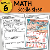 Math Doodle Sheet - Percent Problems -  EASY to Use Notes - PPT included!