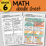 Doodle Sheet Math - Comparing Relationships -  EASY to Use Notes - PPT included!