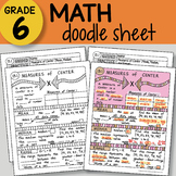 Math Doodle - Measures of Center - EASY to Use Notes - PPT included!