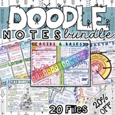 Doodle Notes Bundle A - 20 Doodles at 20% off!