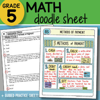 Math Doodle - Methods of Payment - So EASY to Use! PPT Included!