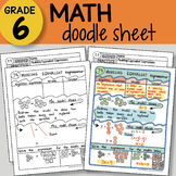 Math Doodle Sheet - Modeling Equivalent Expressions - EASY