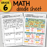 Math Doodle - Multiplication & Division of Inequalities w/ Rational Numbers -