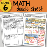 Math Doodle - Multiplication and Division Equations - So E