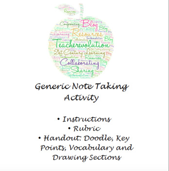 Doodle Notes: Note Taking Handout and Rubric