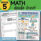 Math Doodle - Numerical Patterns and Rules - So EASY to Us