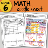 Math Doodle - Order of Operations - So EASY to Use! PPT included