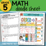 Math Doodle - Order of Operations - So EASY to USE! PPT Included!