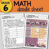 Math Doodle - Paying for College - EASY to Use Notes - PPT included!
