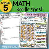 Doodle Notes - Prime & Composite Numbers - So EASY to Use! PPT Included!