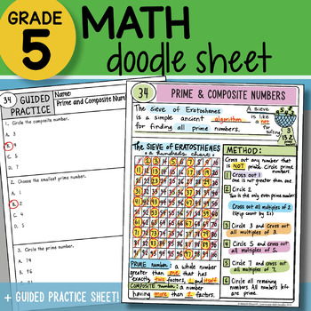 prime and composite numbers foldable teaching resources teachers