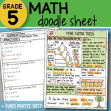 Math Doodle - Prime Factor Trees - So EASY to Use! PPT Included!