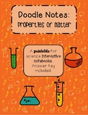 Doodle Notes: Properties of Matter