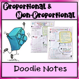 Doodle Notes:  Proportional and Non-Proportional Relationships