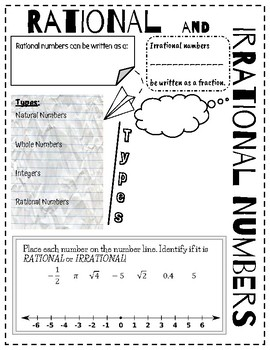 doodle notes rational irrational numbers by mrs os math tpt. Black Bedroom Furniture Sets. Home Design Ideas