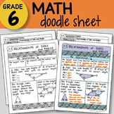 Math Doodle - Relationships of Sides and Angles - EASY to Use Notes -