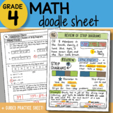 Math Doodle - Review of Strip Diagrams - So EASY to Use! PPT Included
