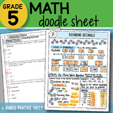 Math Doodle - Rounding Decimals - So EASY to Use! PPT Included!