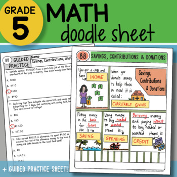 Math Doodle - Savings, Contributions & Donations - So EASY to Use!