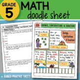 Math Doodle - Savings, Contributions & Donations - So EASY