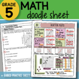 Math Doodle - Scatter Plots - So EASY to Use! PPT Included!