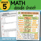Math Doodle - Simplifying Numerical Expressions - So EASY to Use! PPT Included!