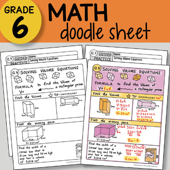 Doodle Notes - Solving Volume Equations - So EASY to Use! PPT included