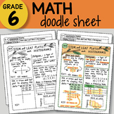 Math Doodle - Stem and Leaf Plots & Histograms - EASY to Use Notes - PPT!