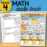Doodle Sheet - Stem and Leaf Plots - So EASY to Use! PPT Included