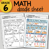 Math Doodle - Sum of Angle Measures - EASY to Use Notes - PPT included!