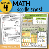Doodle Sheet - Tables and Dot Plots - So EASY to Use! PPT Included