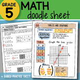 Math Doodle - Tables and Graphing - So EASY to Use! PPT Included!