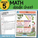Math Doodle - Taxes - So EASY to Use! PPT Included!