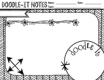 Doodle-It Notes: Templates