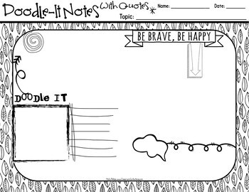 "Doodle-It Notes: Templates: ""Notes with Quotes"""